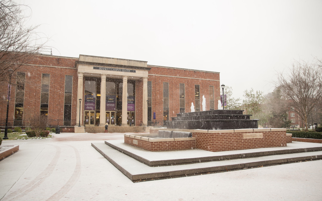 Snow on campus photo gallery