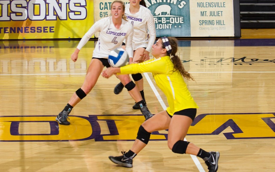 Volleyball player credits faith, family for success on court