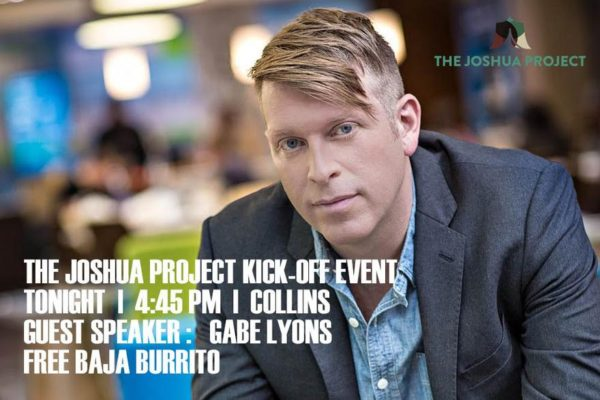 'The Joshua Project' kicks off 2016 program with guest speaker Gabe Lyons
