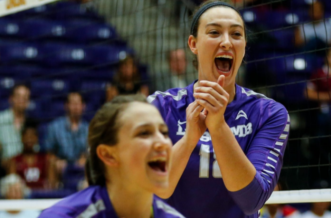 Women's volleyball takes the cake again with second ASUN Tournament title