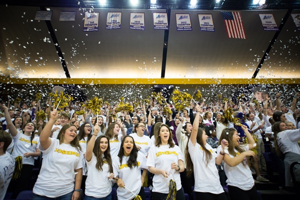 Athletics works to get students to games