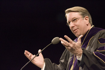 President Lowry ushers in new semester with 'Respect Leads'