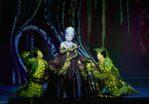 Jennifer Allen, Brandon Roach and Frederick Hagreen in Disneys THE LITTLE MERMAID. Photo by Steve Wilson