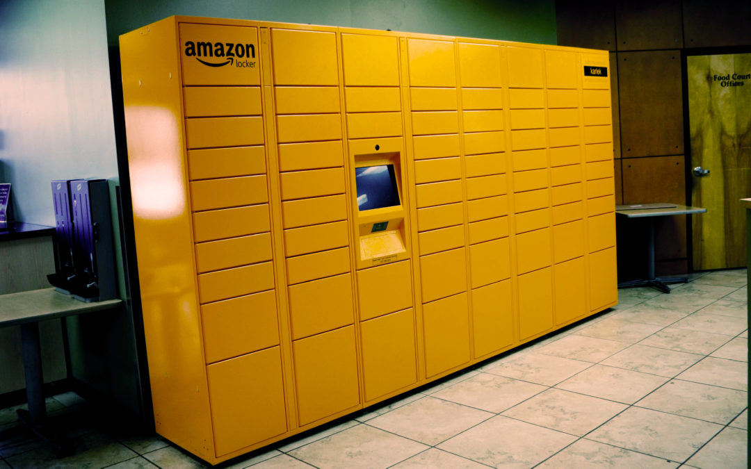 Amazon Locker installed on campus