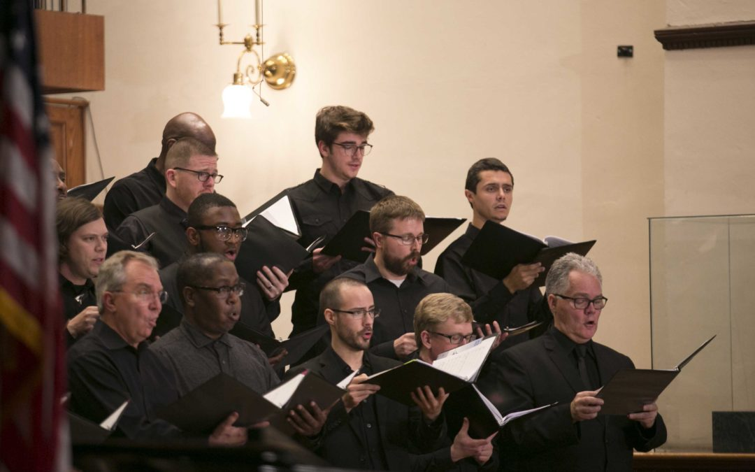 Male choristers perform 'Seven Last Words of the Unarmed' at Fisk University