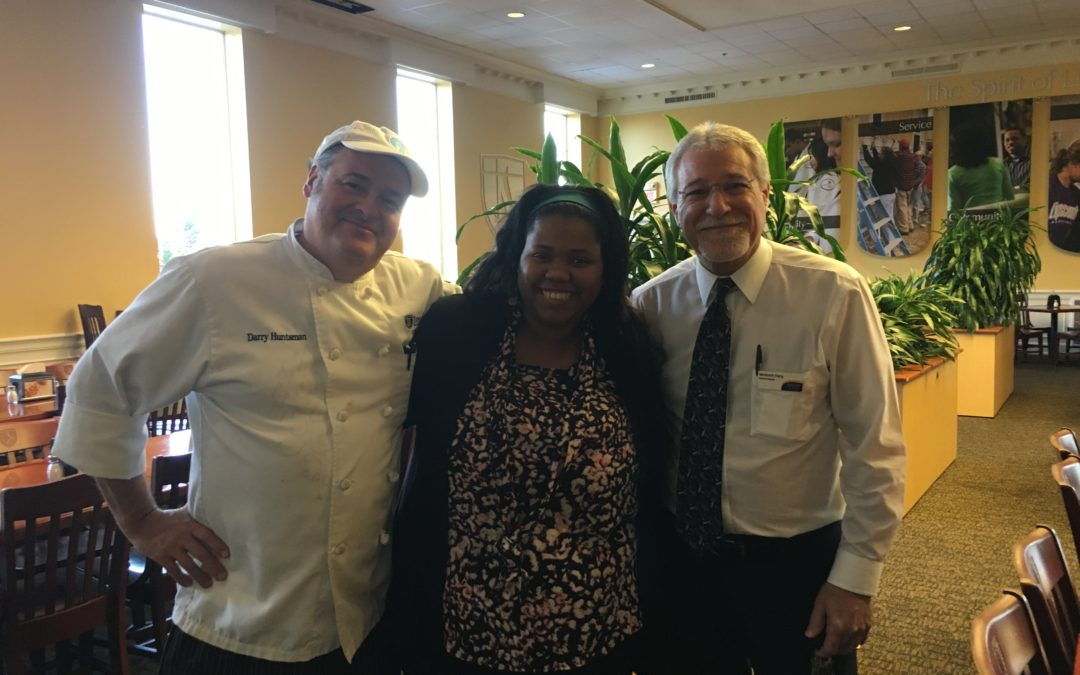 Sodexo staff serves students, even on snow days