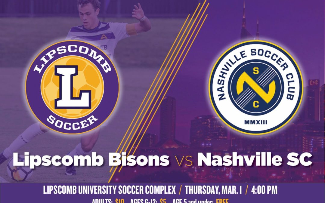Bisons to face Nashville Soccer Club at home March 1