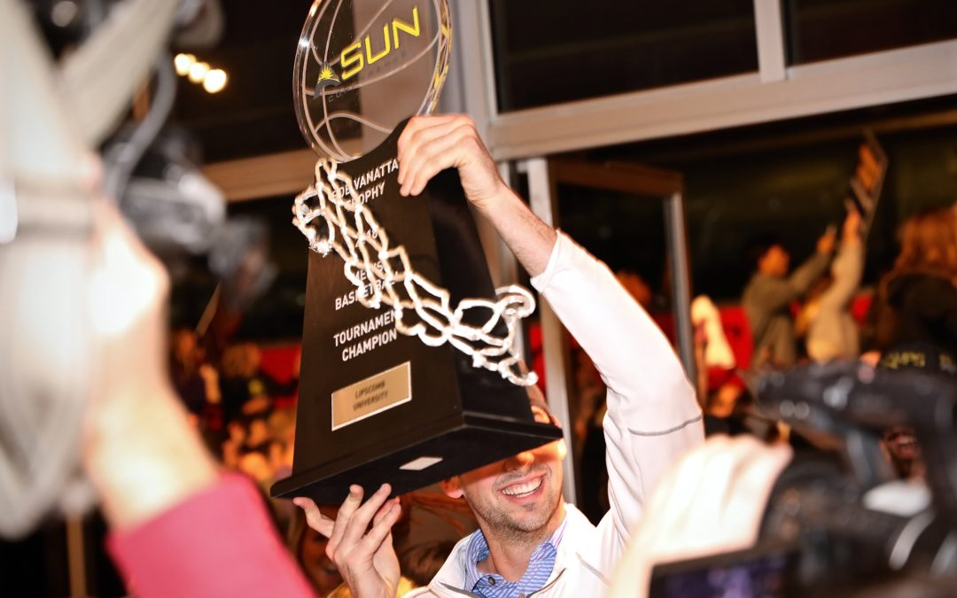 Men's basketball team returns from ASUN championship photo gallery