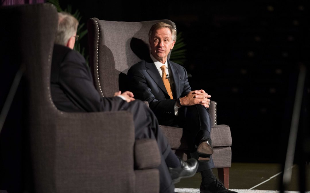 Governor Bill Haslam gives advice to young voters during campus visit