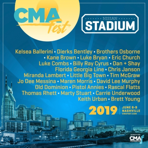Rain falls, but CMA Fest still shines with Lipscomb alums Ballerini and Rhett hosting Nissan stage