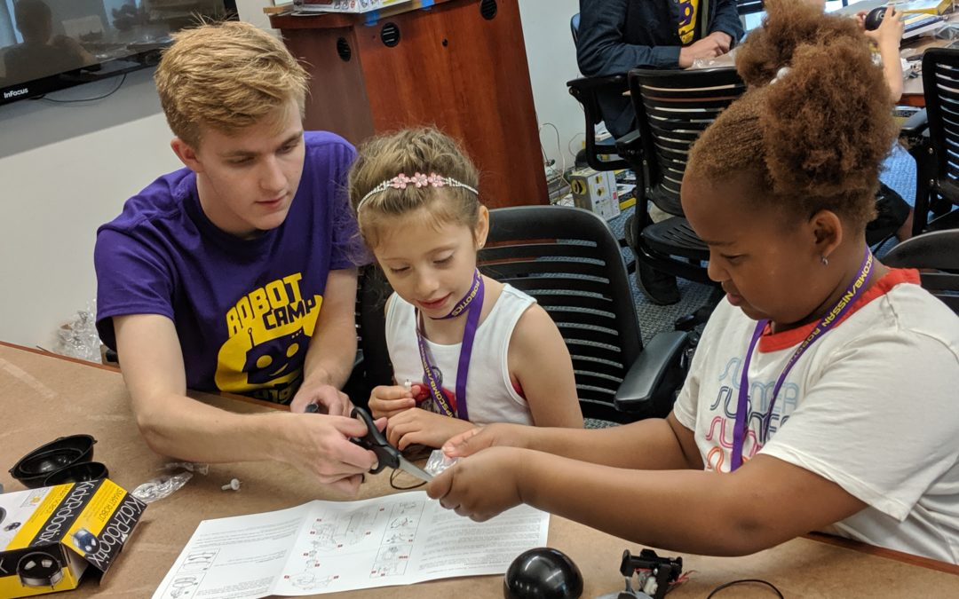 Robotics summer camp teaching youth the fun of engineering