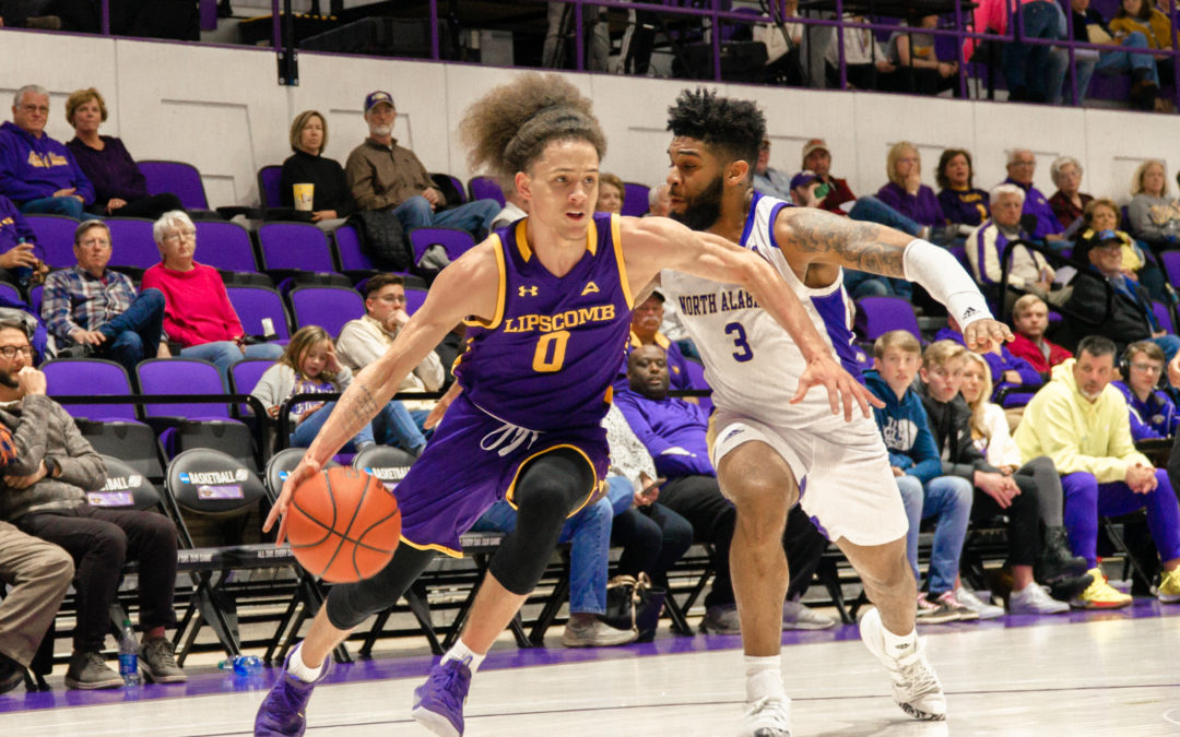 Lipscomb men's basketball survives second-half comeback to beat UNA 73-71