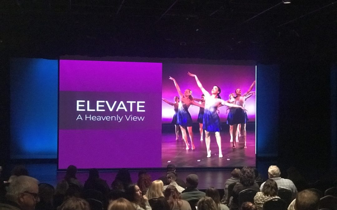 Audience members experience A Heavenly View with Elevate Dance Show