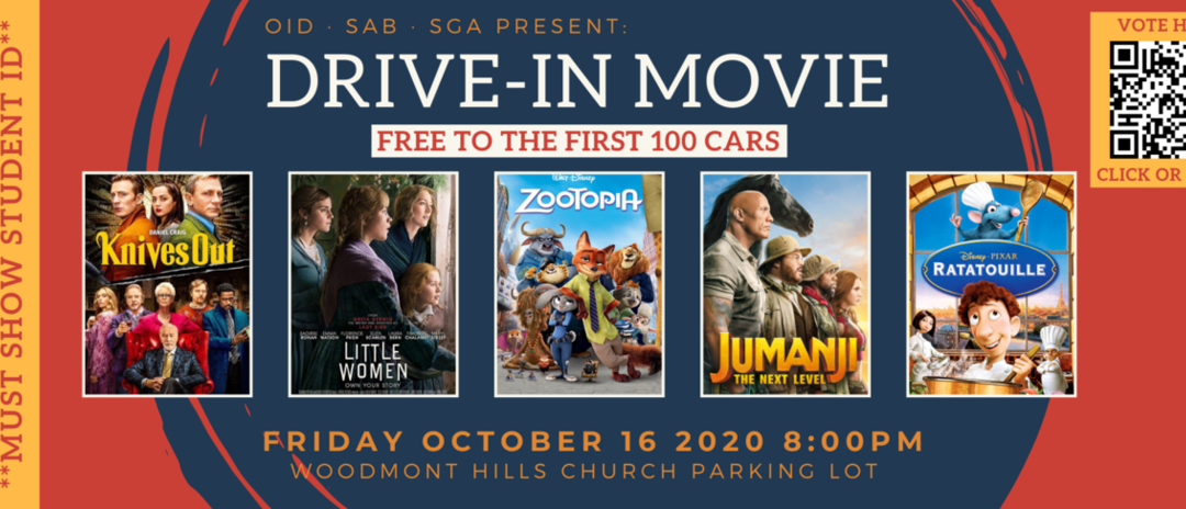 SGA to host drive-in movie this Friday