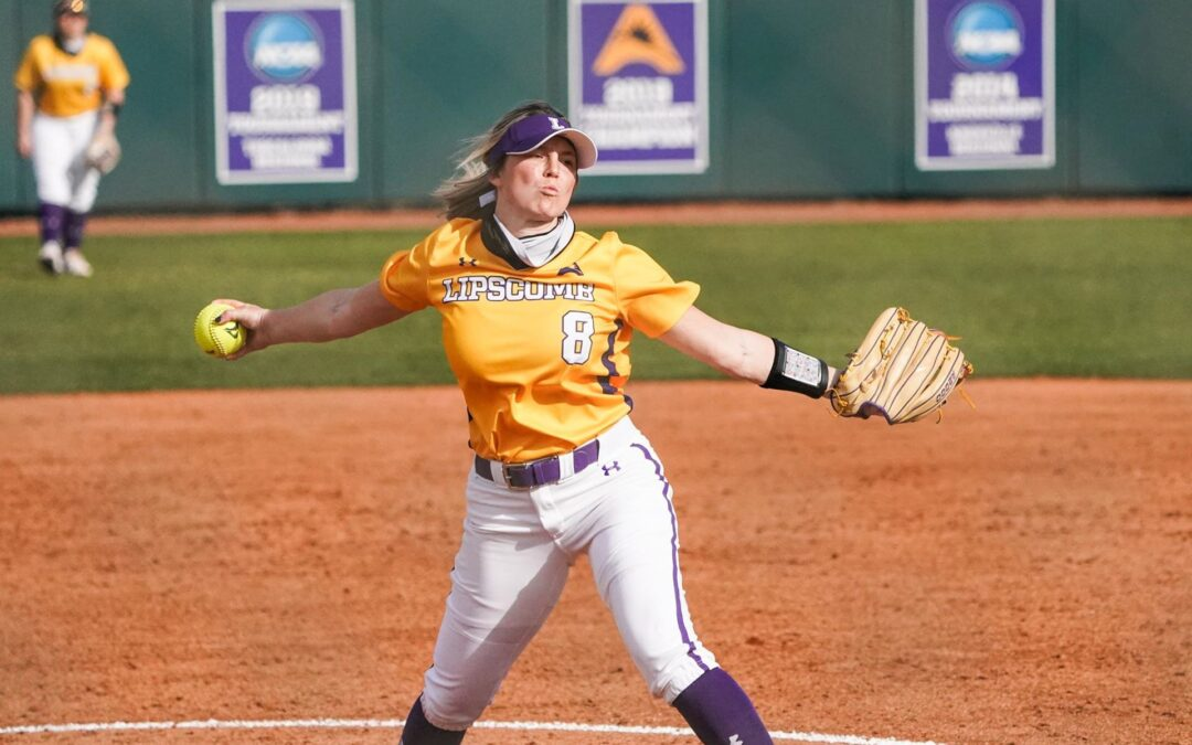 Lipscomb softball sweeps Loyola Chicago, splits with Oakland in Purple and Gold Challenge