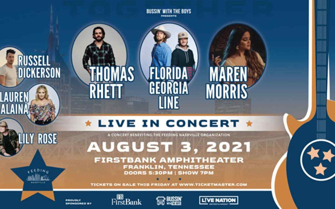 Former Lipscomb student Thomas Rhett joins FGL, Maren Morris and more for concert benefiting area hungry
