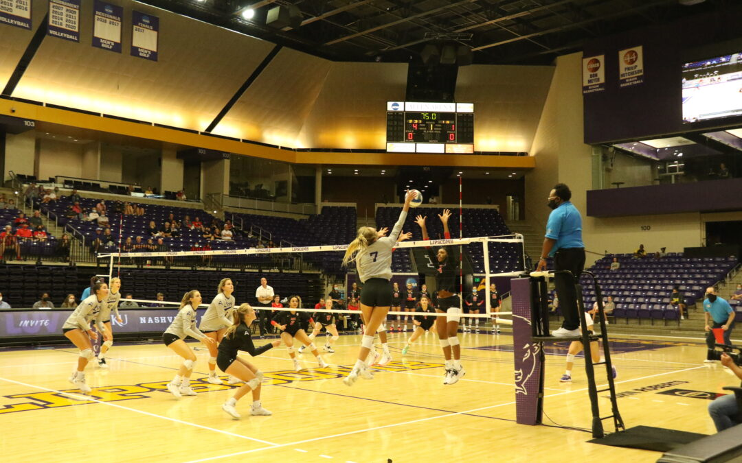 Volleyball comes up short against top-15 Hilltoppers
